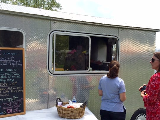 Koi on the Go, a food truck from the former owners of Sweet Basil in Chadds Ford, Pennsylvania, has offered gourmet Asian-fusion food since 2013. It was recenty parked at the Wilmington Flower Market.