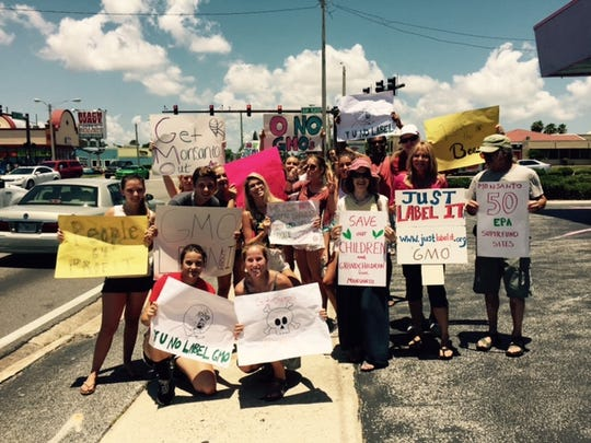 Roughly 50 people once protested Monsanto in Cocoa Beach.