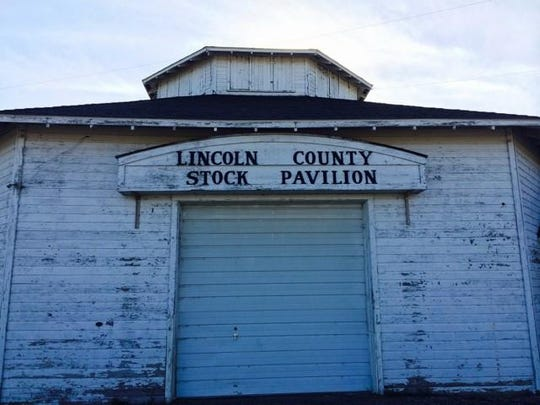 The cattle barn on the Lincoln County Fairgrounds is one of many buildings on the site that Merrill will have to repair when it takes ownership of the property.