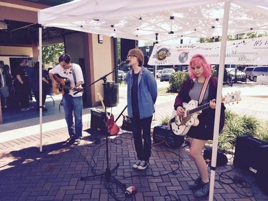 Farmington's School of Rock made a tour stop at the market this past weekend.