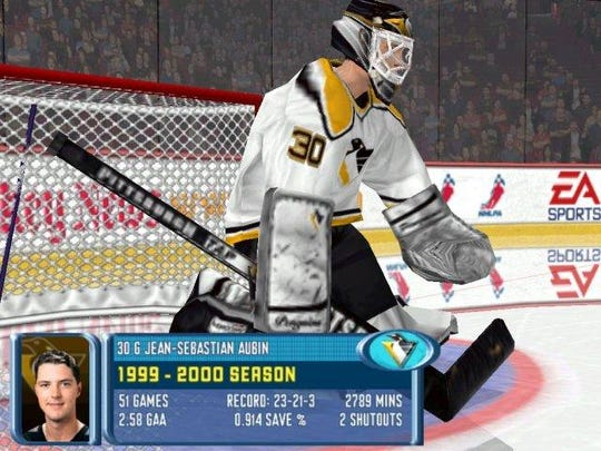 """A screen shot of """"NHL 2001"""" from Archive.org shows"""