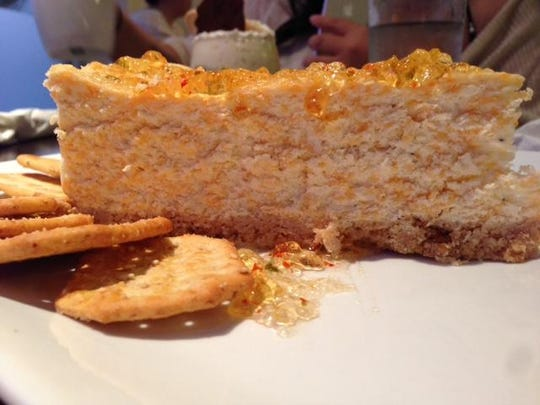 Savory cheesecake at Creme Cupcake + Dessert
