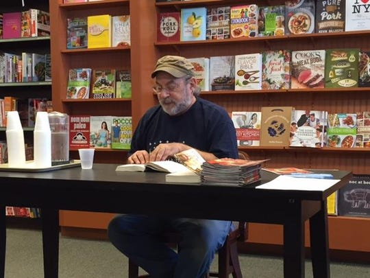 """Gary Cohen, producer/director of Plays-in-the-Park, reading two chapters of Harper Lee's novel """"To Kill a Mockingbird"""" at Barnes & Noble, Menlo Park Mall, Edison on Monday."""