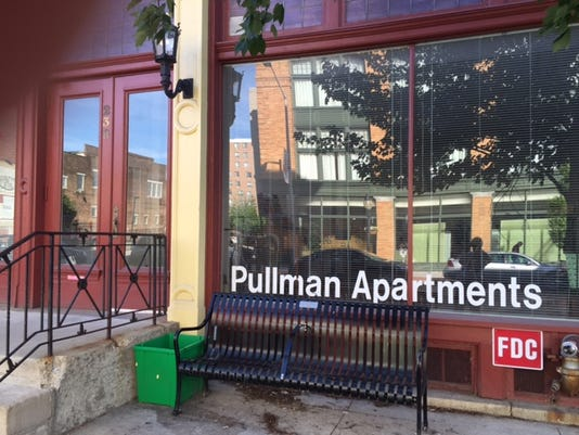 York's Redevelopment Authority has agreed to sell the Pullman Apartments building on North George Street, shown here Wednesday, to a Harrisburg developer for 238,000.