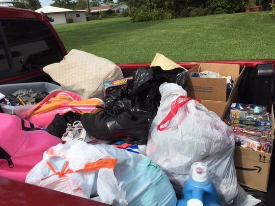 "A ""truck load"" of supplies was collected on Friday for the Occeda family."