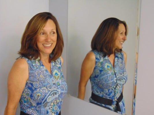 Renee - Braces Off in Mirror
