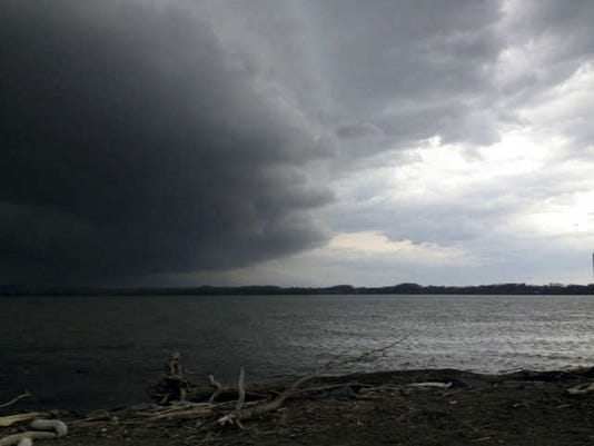 Anna R. Martin of Springettsbury Township submitted this photo March 28. Martin writes,  Cold Front coming in on the River.