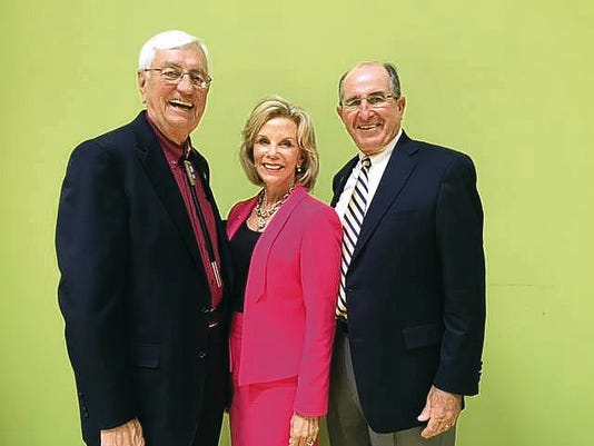 NMSU President Garrey Carruthers, left, joins Pat Sisbarro and Lou Sisbarro in Chicago as The Council for Advancement and Support of Education presented Pat with the Distinguished Friend of Education Award, an honor given to just one person in the nation each year.