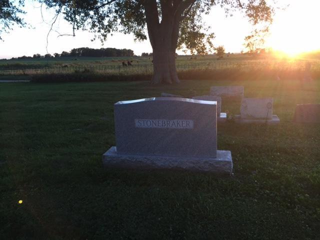 Homer Stonebraker's grave.