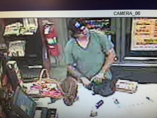Police said this man showed clerks a gun while robbing the Turkey Hill on Mount Rose Avenue in Spring Garden Twp. about 11 p.m. Tuesday, Aug. 11, 2015.