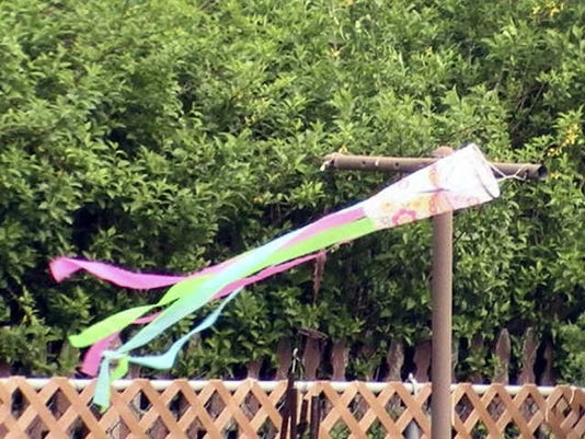 Beth Ney of Dover Township submitted this photo. Ney writes,  Colorful windsock is picking up the breeze, and the ribbons will soon be waving high in the air.
