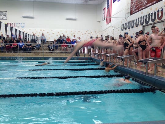 A quick cell phone shot from the South Western relays, on Jan. 25.