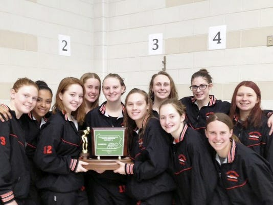The York Suburban girls' swimming team captured the District 3 Class AA swimming championship at Cumberland Valley High School Saturday. It marked the Trojans' second district team title in three seasons as York Suburban also won the 2012-13 title.
