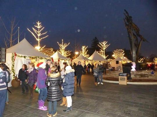 Shain Park glows in festive lights at the 2015 Winter Markt.