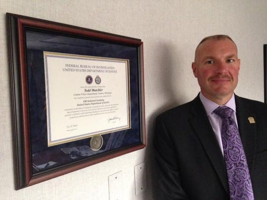 Canton Public Safety Director Todd Mutchler, shown here after he attended the FBI National Academy, is moving on.