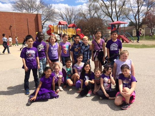 Howe students wore purple April 15 in support of military families.