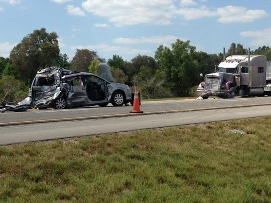 A four-vehicle crash on I-75 south of Daniels Parkway resulted in one fatality on Tuesday afternoon. The freeway was shutdown for several hours.