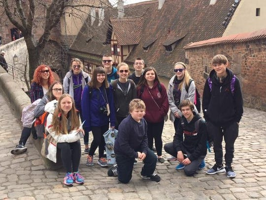 About 15 students participated in a school trip to