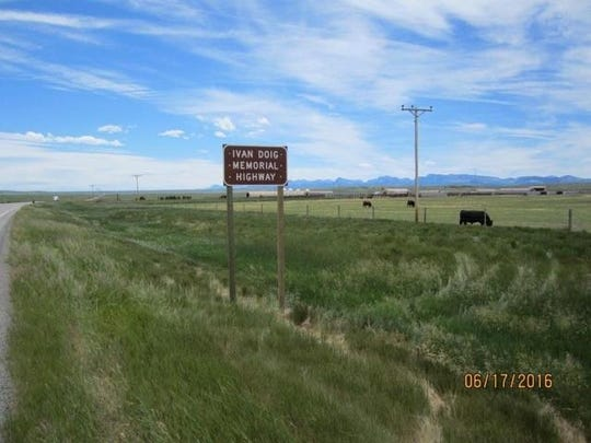 The Ivan Doig Memorial Highway is a section of US Highway 89 running through Dupuyer along the Rocky Mountain Front.