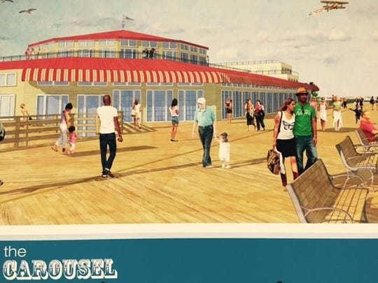 A rendering of a museum that could be built on the Seaside Heights boardwalk to house the Dentzel/Looff carousel.