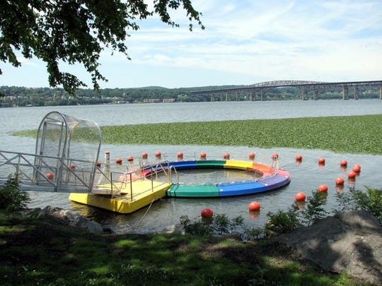 The River Pool is 17-feet around and 30-feet deep with a floor made of netting.