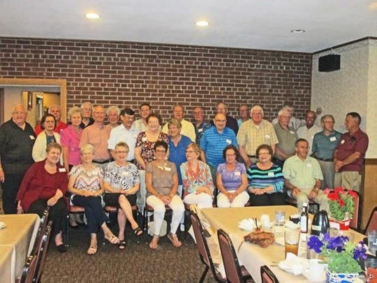 The Marathon High School class of 1956 recently held their 60th class reunion at the Village Inn, Marathon. The group enjoyed socializing, having a delicious meal, and enjoying a walk down memory lane. The classmates and their spouses also visited the Marathon Heritage Center, where they viewed many historical items and pictures of Marathon as it was in days gone by. Adrienne (Wadinski) Detert and John N. Lensmire were in charge of planning the event.