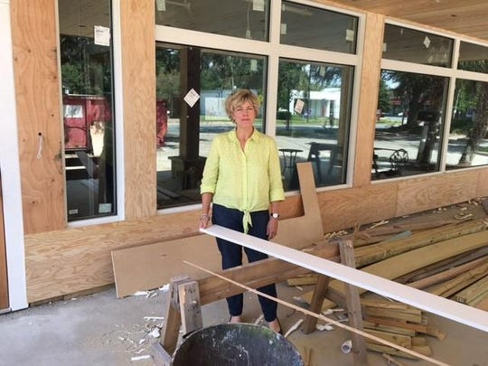 Sally Bradshaw bought the building at 1123 Thomasville Road and is making improvements for Midtown Reader. Part of her renovation is to create a front gallery.
