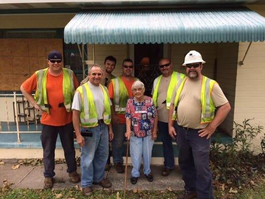 Hurricane Matthew Support Photo JCPL Boonton Crews with Betty