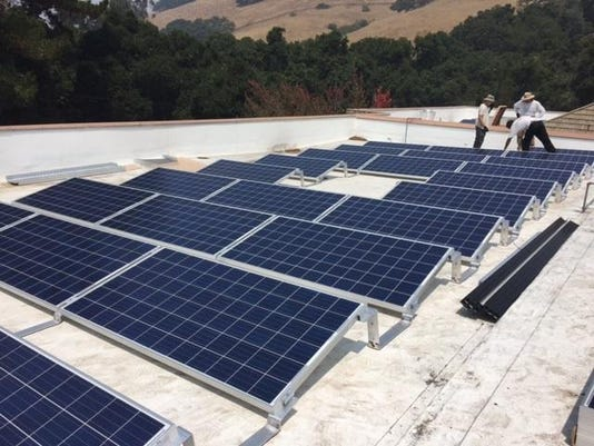 Solar Array Atop Church of the Good Shepherd's Parish Hall