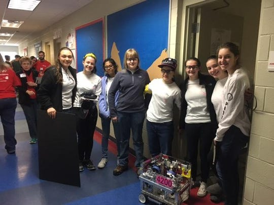 Padua Robotics team X-squared Factor competed in the Diamond State championship.