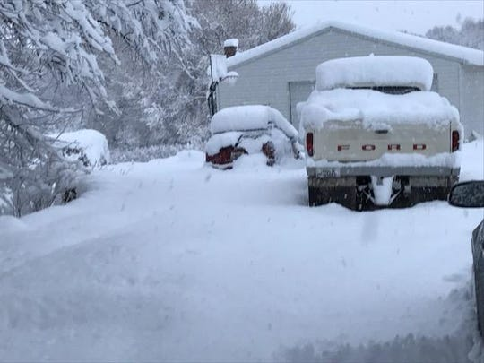 Up to 21 inches of snow fell in the Highwood area between Monday and Tuesday mornings.