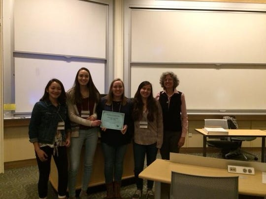 Vermont Brain Bee first-place team from Essex High