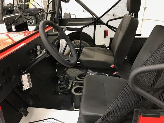 With apologies to Henry Ford, Roxor interiors will be black until Mahindra offers customizable options within six months.