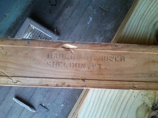 Below one of the window trim boards removed for renovation shows clearly that it belonged to Harlow Mower.