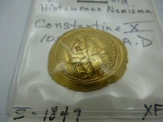 Byzantine Gold Coin, Constantine X,  1059-1067 AD.JPG