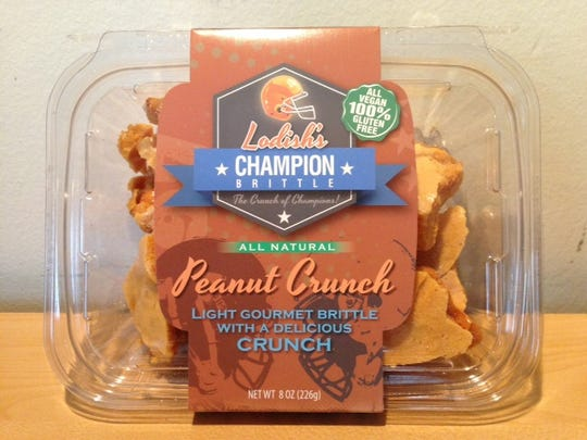 Peanut Crunch is just one flavor of Lodish's Champion Brittle.