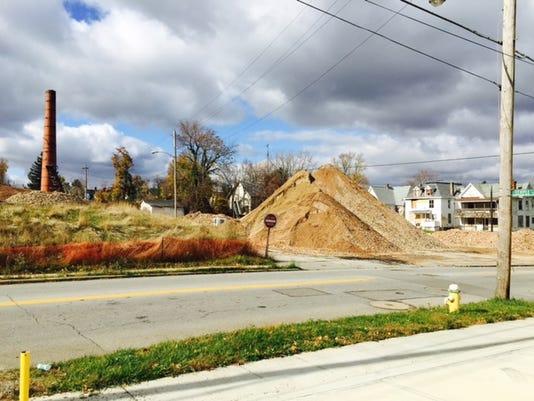 Former Simpson site debris