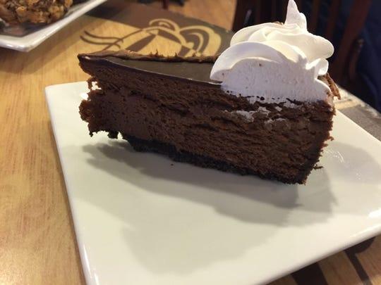 Chocolate truffle cheesecake.
