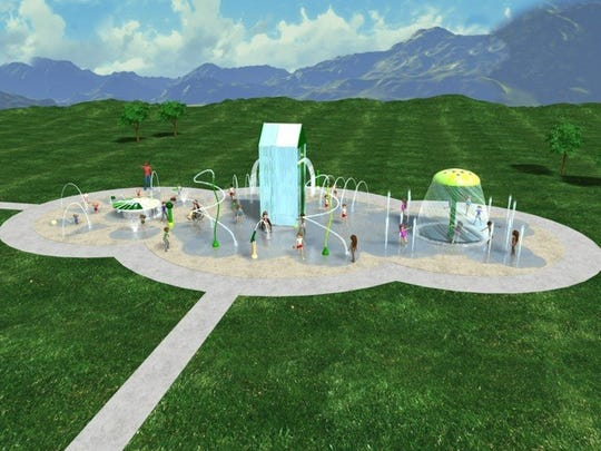 A rendering of the Port Royal Park splash pad, one
