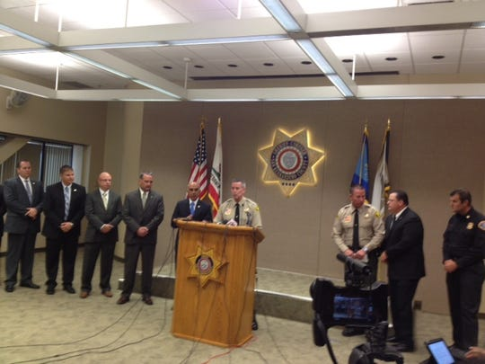 The San Bernardino County Sheriff's Department holds a press conference Monday to announce the discovery of Erin Corwin's body and the arrest of Christopher Lee.