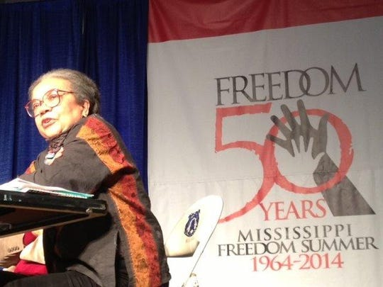 Marian Wright Edelman, president of the Children's Defense Fund, discussed Freedom Summer and voting rights at a 50th anniversary conference of civil rights veterans in Jackson, Mississippi, on Thursday, June 26, 2014.