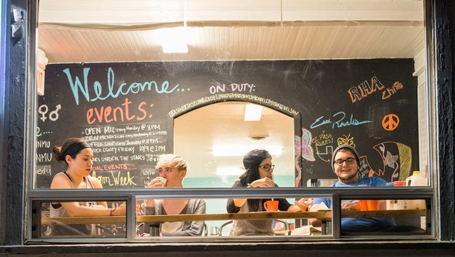 Pictured are students at The Center For Gender Equity on campus.