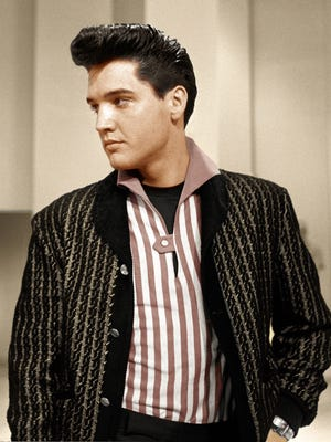 """Elvis Presley making his first televised appearance after the Army, in Frank Sinatra's 1960 TV special """"Welcome Home Elvis."""""""