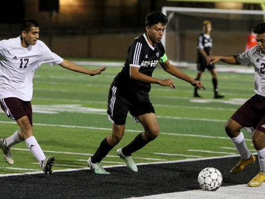Wichita Falls High School's Alfredo Pacheco  and the Coyotes will take on Aledo for the second straight year in the playoffs.