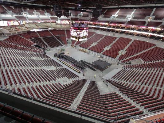 Louisville basketball: KFC Yum Center court gets dunking ... |Kfc Yum Arena