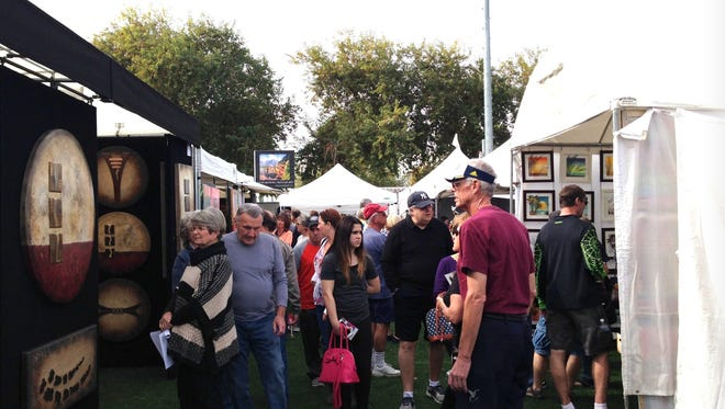 During the Surprise Fine Art and Wine Festival, patrons can browse fine art from artists from different parts of the country. The Surprise Fine Art and Wine Festival brings together fine art, wine and beer tasting, live music and hand-crafted foods.
