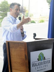Gov. Brian Sandoval speaks at the ceremony. It was