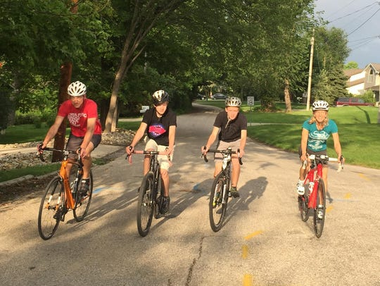 First-time rider Mary McInnis Meyer, 46, of Waterloo