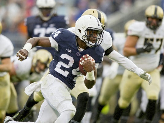 Penn State running back Nick Scott runs 11 yards for a touchdown against Army on Saturday. It was the first career TD for the freshman running back.