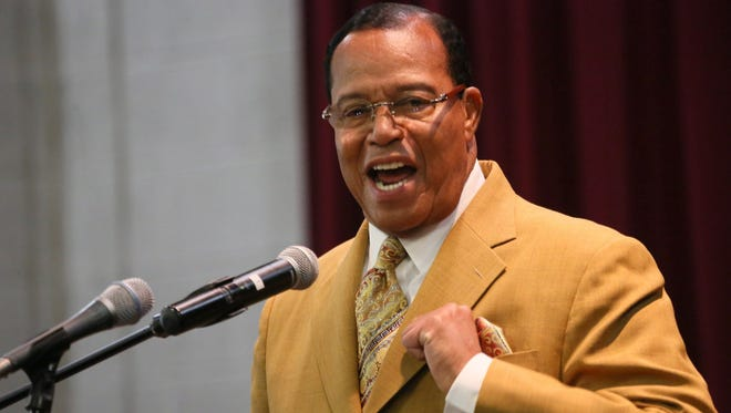 Minister Louis Farrakhan speaks to invited pastors and community members at New Destiny Baptist Church in Detroit on Thursday, May, 16, 2013.